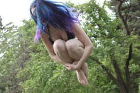 jumpin around